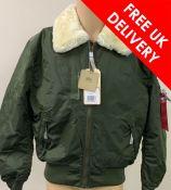 Alpha Industries Flight Jacket Injector III, Dark Green, Size XL