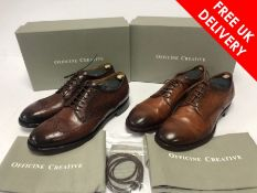Two pairs of Officine Creative leather loafers, UK 11