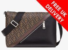 Fendi Brown FF Messenger Bag, New