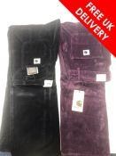 Two Carhartt Straight Pierce Pants, Navy/Purple. Size 30, New