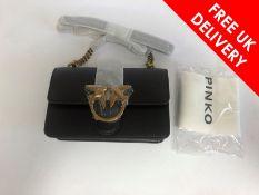 Pinko Love Simply Mini Icon Crossbody bag leather, Black