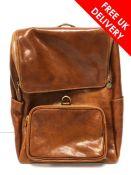 Vera Pelle Brown Leather Back Pack