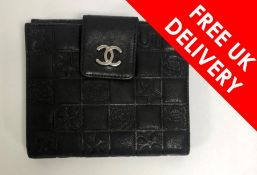 Chanel Black Leather Purse, Boxed, Some signs of use