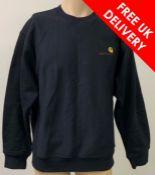 Two Carhartt Men's Sweatshirts in Black / Navy, Size M
