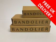 Three boxed as new Bandolier products