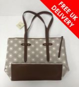 Fossil Felicity Tote Grey/White