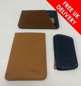 Thre Bellroy Small Leathers Goods