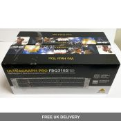Two Ultragraph Pro Behringer FBQ3102HD 31-Band Stereo Graphic Equalisers
