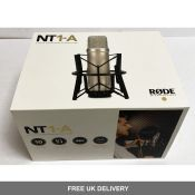 Rode NT1-A Studio Condenser Microphone with Millenium MS 2003 Microphone Stand with Boom Arm