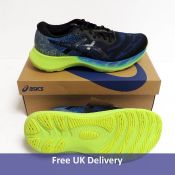 Asics Men's GEL-Nimbus Lite 2 Road Running Shoe, Reborn Blue Black, UK 8