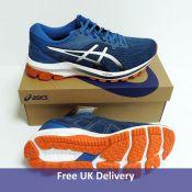 Asics Men's GT-1000 10 Running Shoe, Reborn Blue Black, UK 8.5