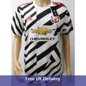 Adidas 20,21 Manchester United Patterned Jersey Shirt for Men, Size L