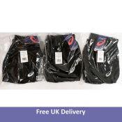 Three Asics Sport 3.5IN Split Men's Shorts, Black