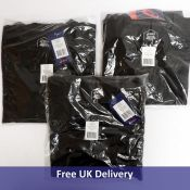 Three Asics Men's Tailored Crew Sweatshirt 001, Black, Size L