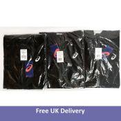 Three Asics Men's Accelerate Jackets, Black, Size 2XL
