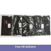 Four Asics Men's Accelerate Jackets, Black, Size L