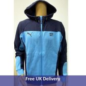 Men's Puma Manchester City Evostripe Hooded Football Jacket, Size L