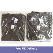 A bundle of Eleven Asics Men's Sport Run Top, Dark Grey, Size XL