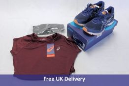 Three Asics products to include running top and two others