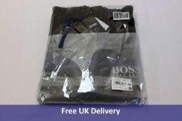Hugo Boss Hooded French-Terry Jacket, Dark Grey, Size L
