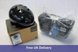 A Cube Acid Trunk 12 RILink Bike Bag and TSG Evolution Injected Colour Helmet