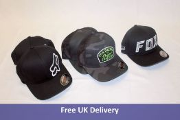 Five Fox FlexFit Hats, all Small/Medium