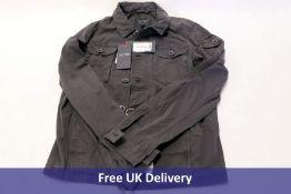 Armani Jeans, Men's Blue Jacket, 100% Cotton, size eu 50