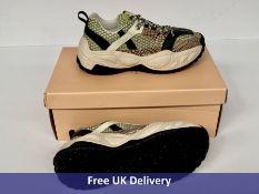 Scotch and Soda Lizzie Sneakers, Multicoloured, Green & Orange, UK 5