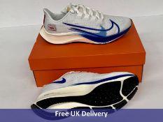 Nike Men's Air Zoom Pegasus 37 PRM Running Shoe, White, Game Royal, Gym Red Sail & Black, Unisex, UK