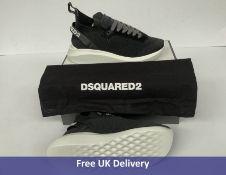 DSquared2 Speedster Sneakers, Black & White, UK 7
