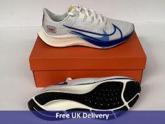 Nike Men's Air Zoom Pegasus 37 PRM Running Shoe, White, Game Royal, Gym Red Sail & Black, UK 8.5