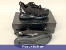 Nike Women's MX 720 818 Trainers, Black & Metallic Silver, UK 3.5