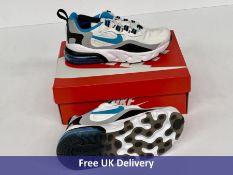 Nike Child's Air Max 270 RT PS Trainers, White, Black & Grey, UK 12