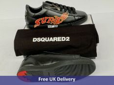 DSquared2 Lace-Up Low Top Sneakers, Men's, Black, UK 9