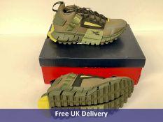 Reebok Zig Kinetica Edge Trainer, Army Green, Black & Yellow, Men's, UK 7.5