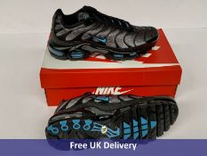 Nike Air Max Plus TN Trainers, Unisex, Black, UK 7