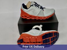 On Cloudstratus Men's Road Running Shoes, Mineral & Rust, UK 9.5