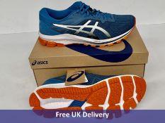 Asics Men's GT 1000 10 Running Shoe, Reborn Blue & Black, UK 12