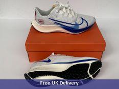 Nike Men's Air Zoom Pegasus 37 Premium Trainers, White, Game Royal & Gym Red Sail, UK 8.5