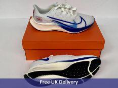 Nike Men's Air Zoom Pegasus 37 PRM Running Shoe, White & Multicoloured, UK 7.5