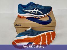 Asics Men's GT 1000 10 Running Shoe, Reborn Blue & Black, UK 9.5