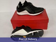 Hugo Boss Running Inspired Trainers, Men's, Black & White, UK 7