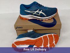 Asics Men's GT 1000 10 Running Shoe, Reborn Blue & Black, UK 9
