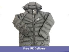 Nike Children's Sportswear Filled Jacket, Black and White, Size S