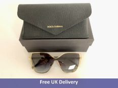Dolce and Gabbana Sunglasses, DG2236, Grey Black and Gold Metal