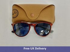 Ray-Ban Women's Erika Sunglasses, RB4171, Red with Blue Lenses