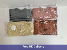 Four Bonnet a Pompon Children's Sweaters, Various Colours, Age 4