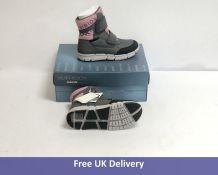 Geox Children's Flexyper Snow Boots, Pink and Gray, UK 1