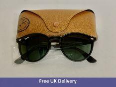 Ray-Ban Blaze Sunglasses, RB4380N, Black and Green