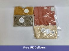 Four items Baby Knitwear Clothing, Bonnet a Pompon, All age 12 Months